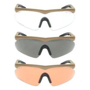Σετ Αντιβαλλιστικά Γυαλιά Raptor Brown | Swiss Eye