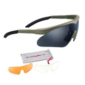 Σετ Αντιβαλλιστικά Γυαλιά Raptor Olive | Swiss Eye